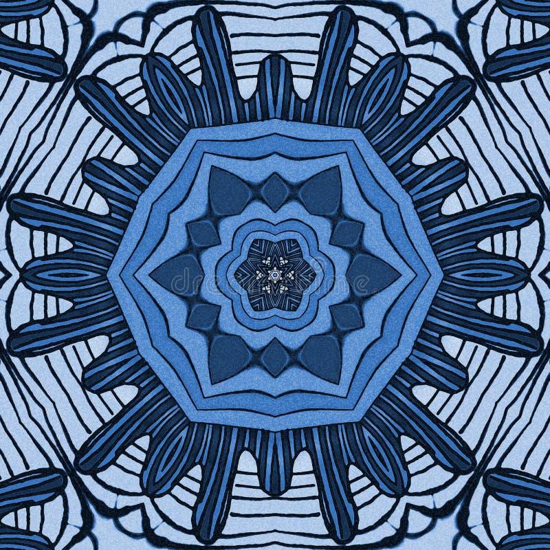 Голубой цветок моря иллюстрация штока