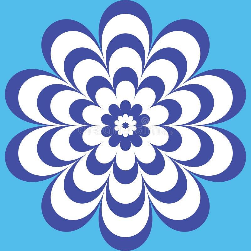 Голубой цветок с красивые сделанные по образцу лепестки иллюстрация штока