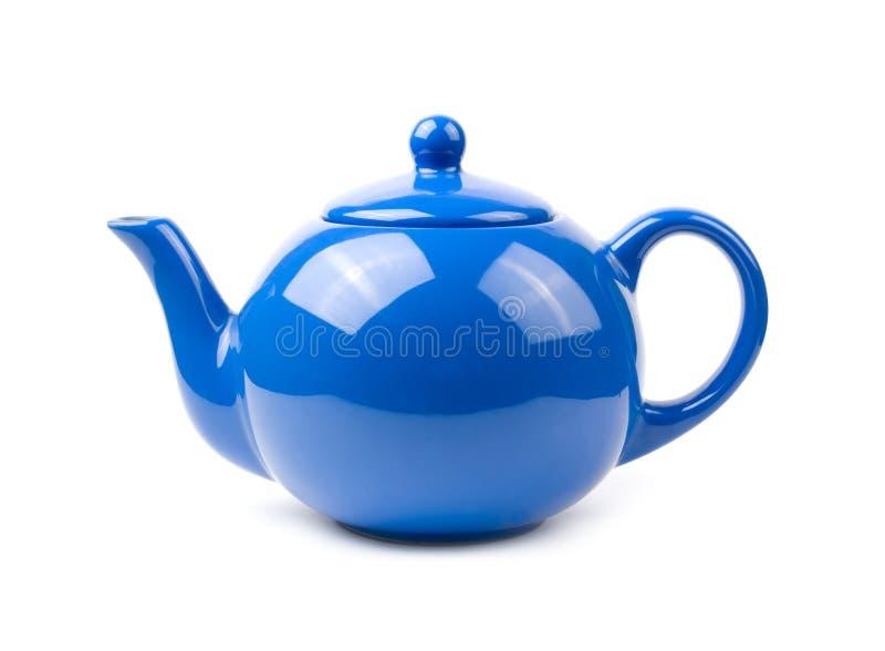 голубой чайник стоковое изображение rf