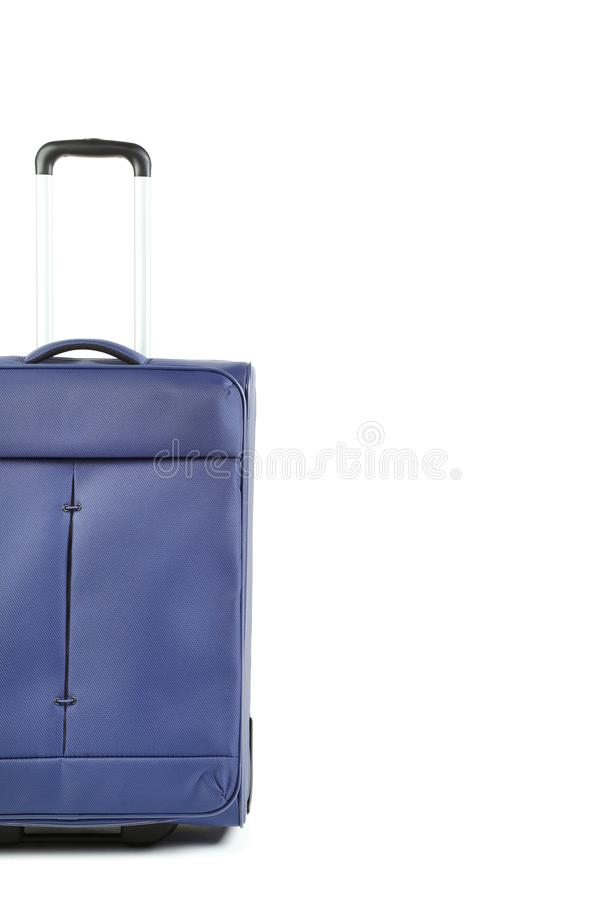 голубой чемодан стоковое фото rf