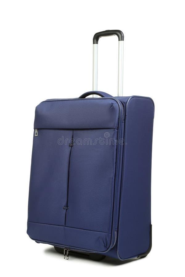 голубой чемодан стоковое изображение