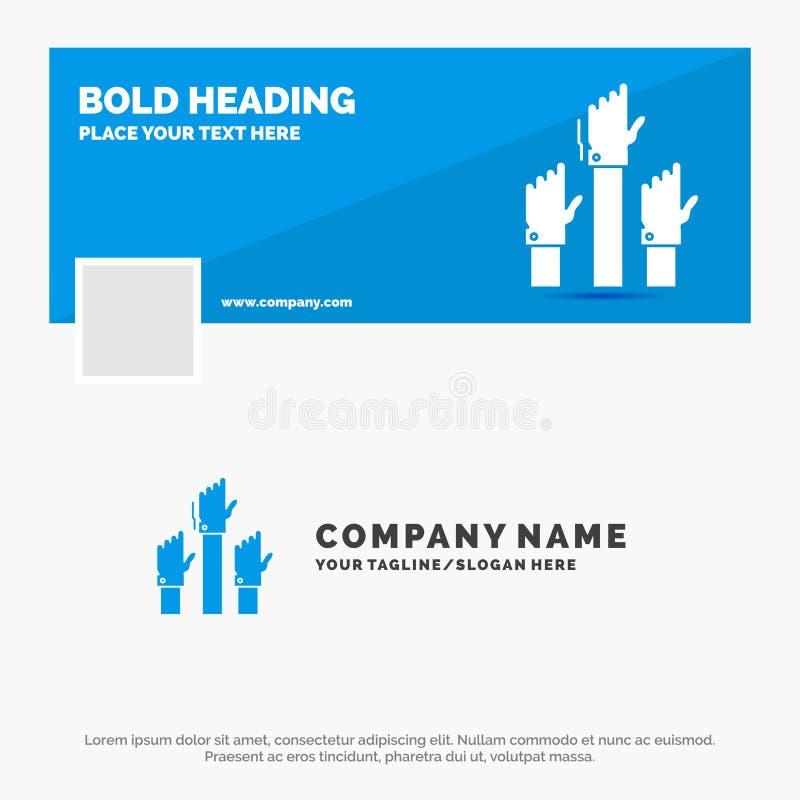 Голубой шаблон логотипа дела для устремленности, дела, желания, работника, цели r r иллюстрация вектора