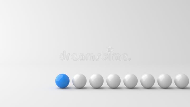 Голубой шарик руководителя иллюстрация штока