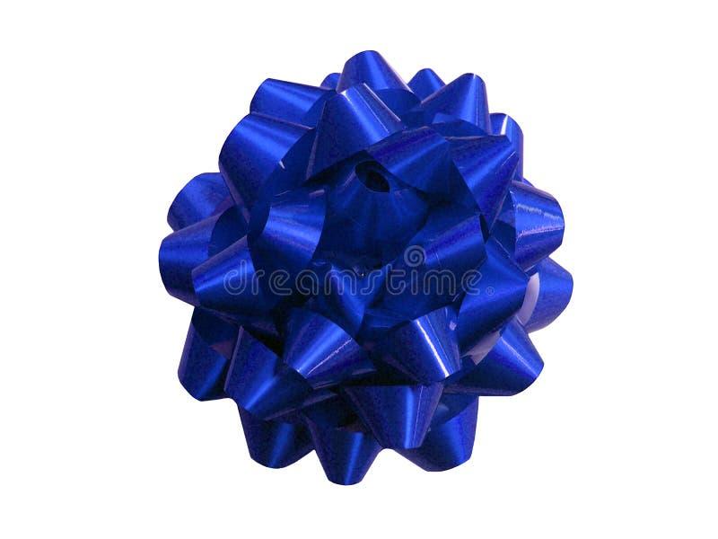 голубой шнур настоящего момента подарка стоковые фото