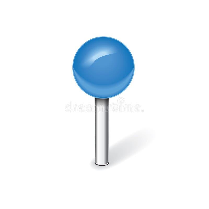 Голубой штырь иллюстрация штока