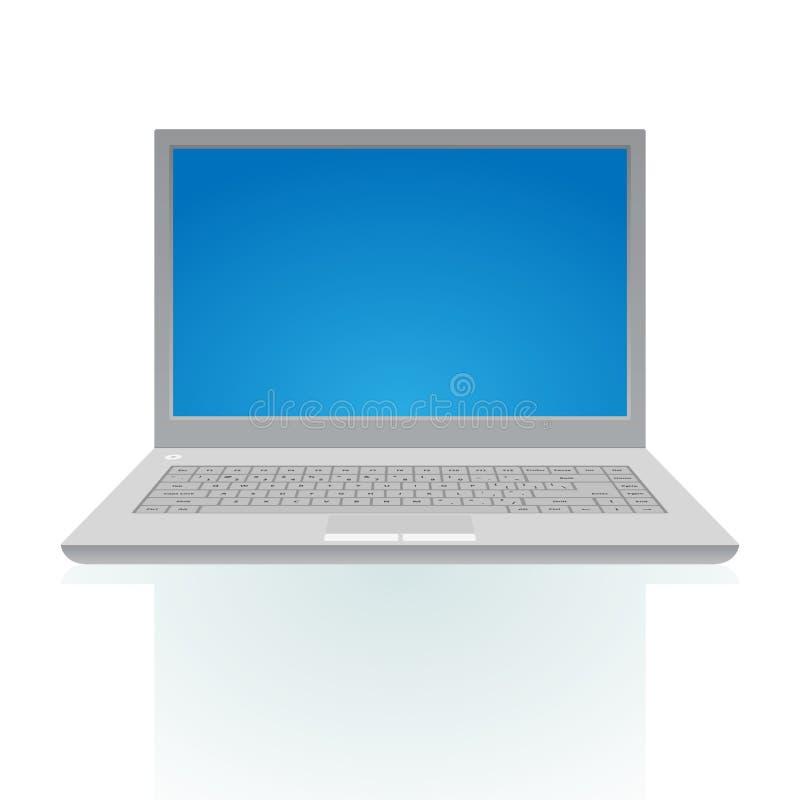 голубой экран компьтер-книжки иллюстрация штока