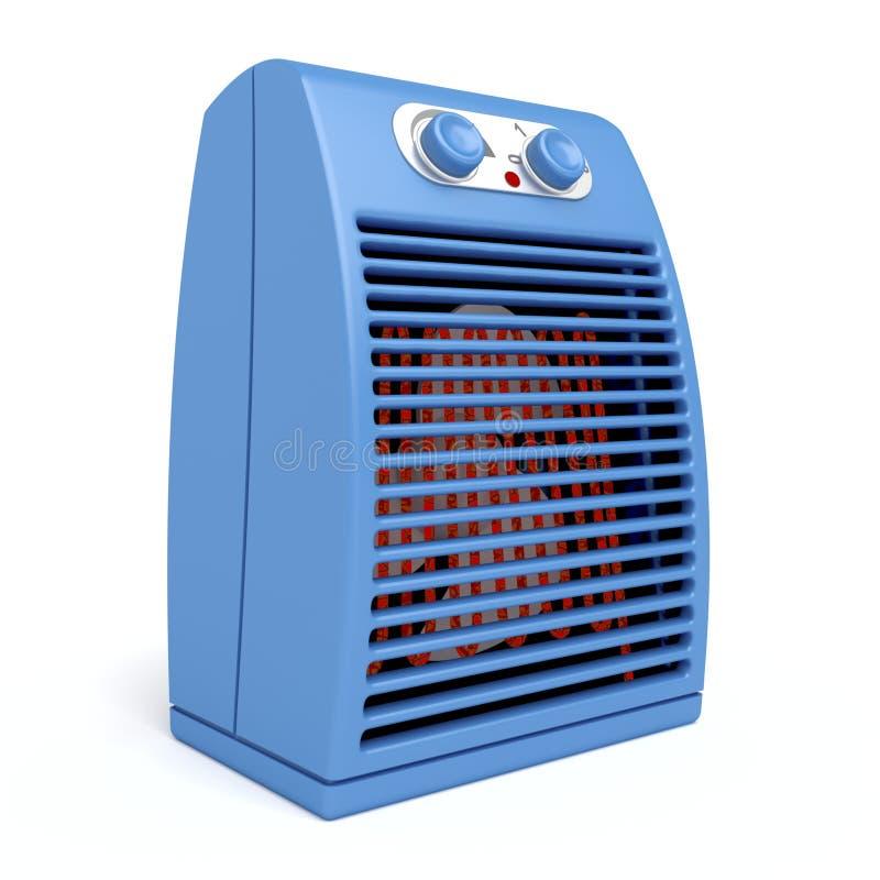 голубой электрический подогреватель бесплатная иллюстрация
