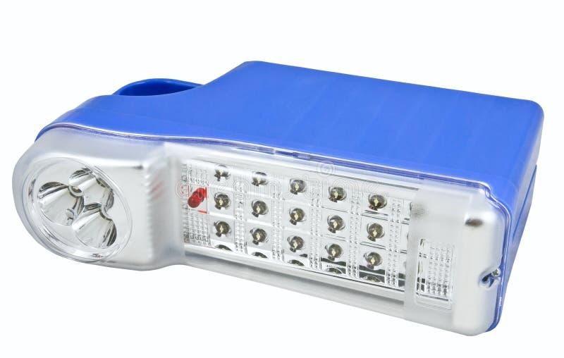голубой электрофонарь вел пластмассу стоковые изображения