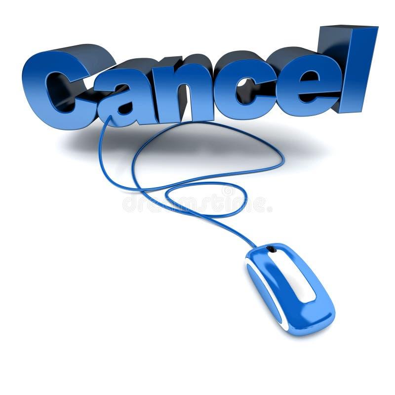 голубой cancel он-лайн бесплатная иллюстрация