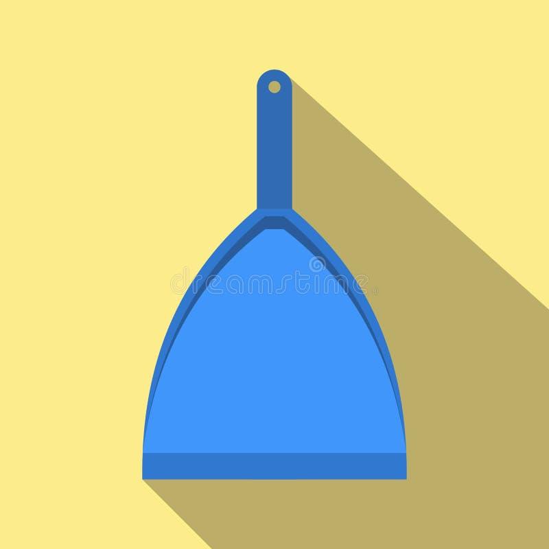 Голубой dustpan плоский иллюстрация вектора