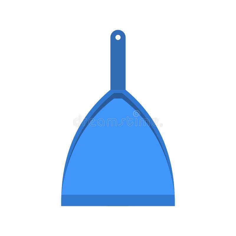 Голубой dustpan плоский иллюстрация штока