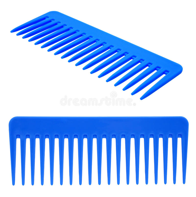 голубой hairbrush стоковые изображения rf
