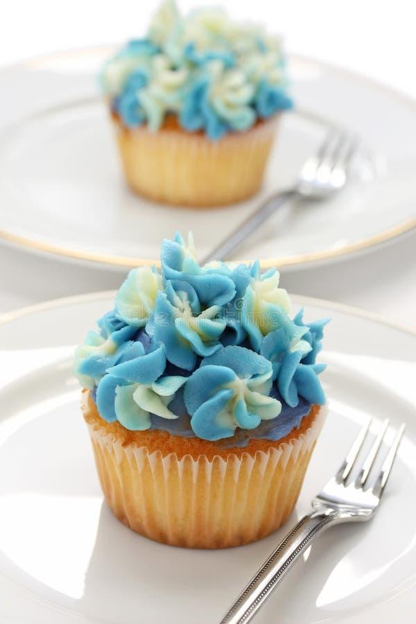 голубой hortensia пирожнй стоковая фотография