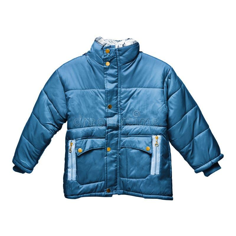голубой parka s детей стоковое изображение rf