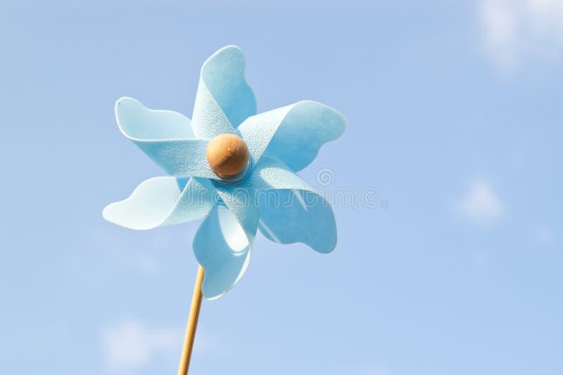 голубой pinwheel стоковая фотография rf