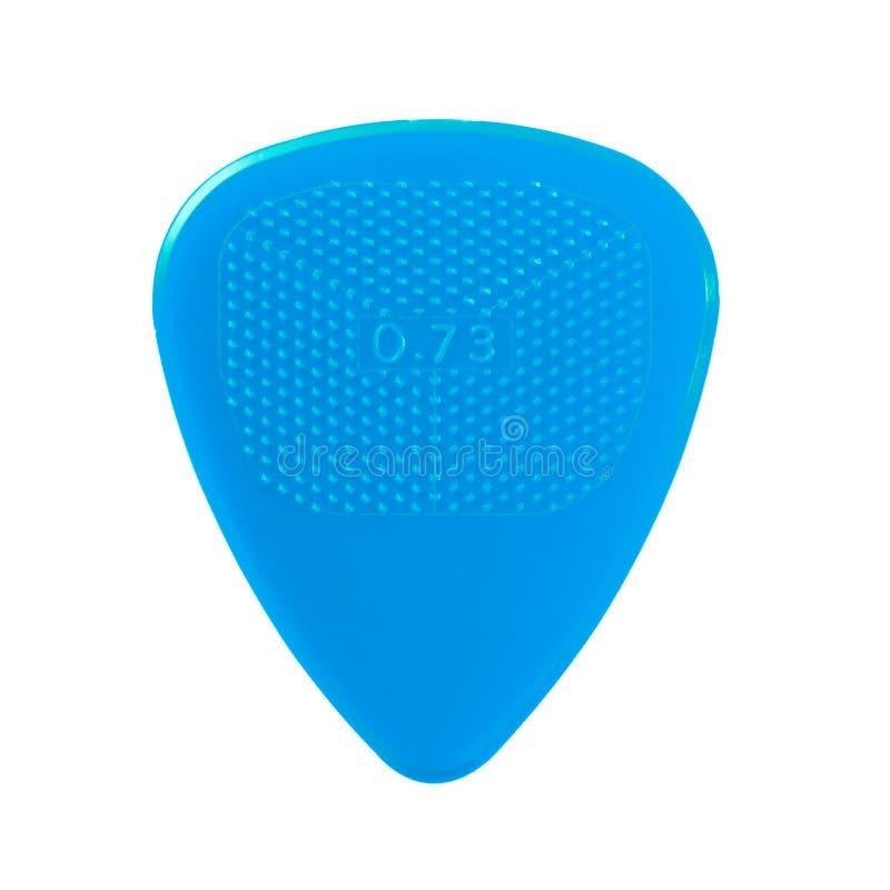 голубой plectrum гитары стоковая фотография rf