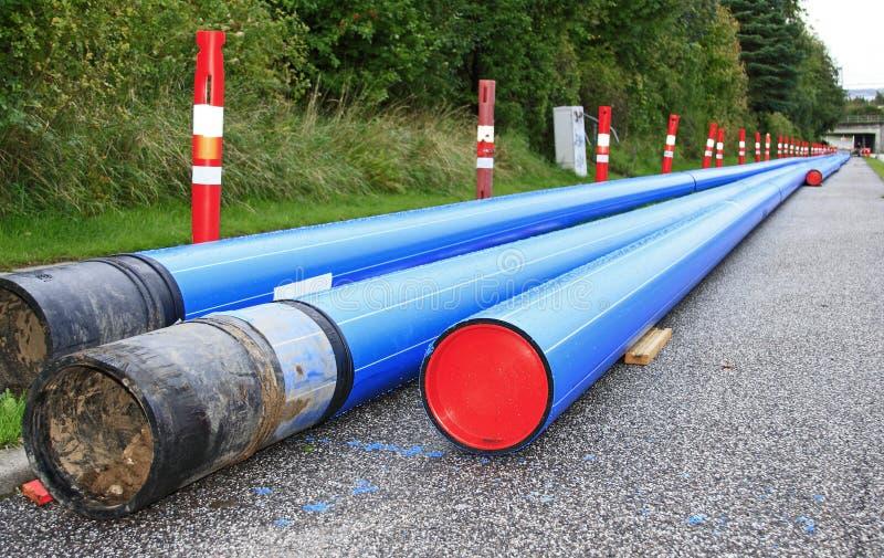 голубой pvc тубопровода стоковое изображение
