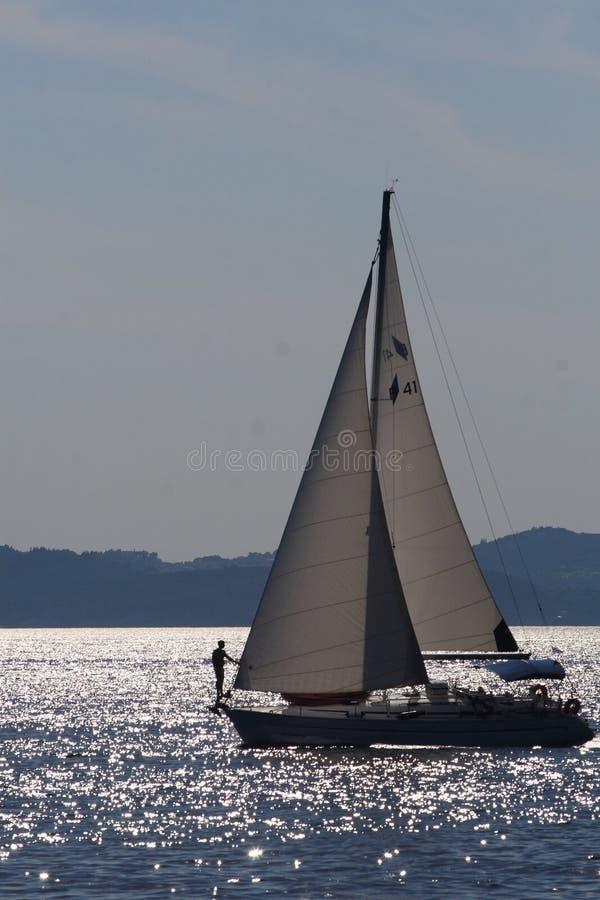 голубой sailing стоковое фото rf