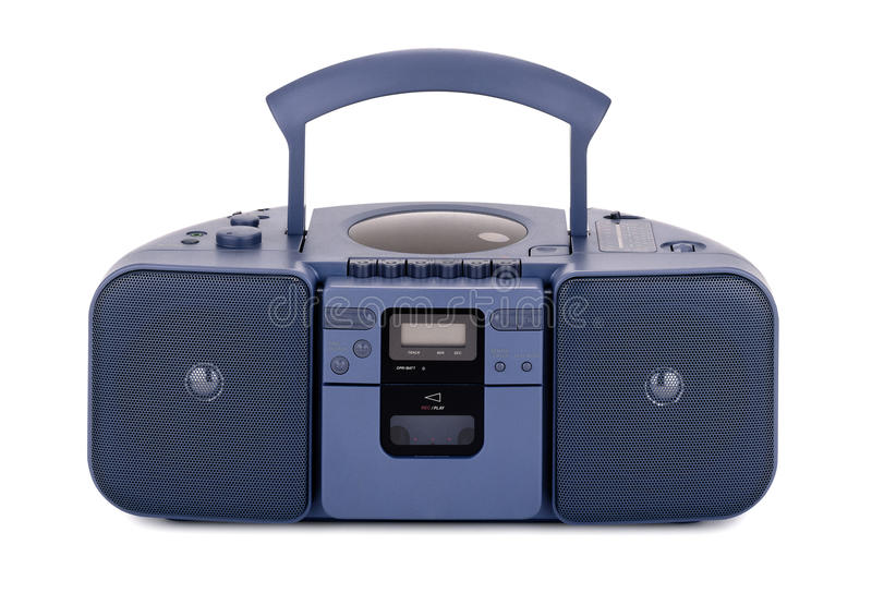 голубой stereo рекордера стоковое изображение