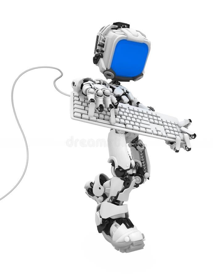 голубой strum экрана робота клавиатуры бесплатная иллюстрация