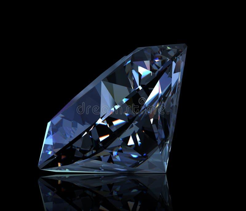 голубой topaz швейцарца круглой формы gemstone иллюстрация штока