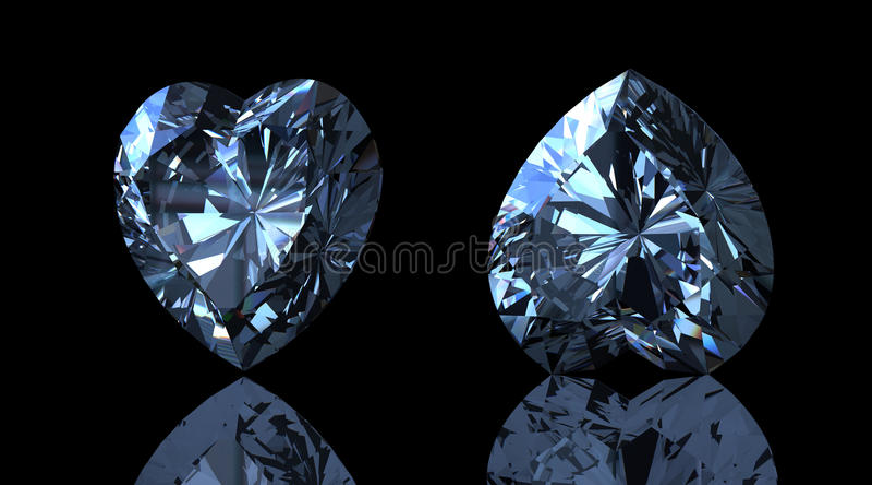 голубой topaz швейцарца формы сердца gemstone бесплатная иллюстрация