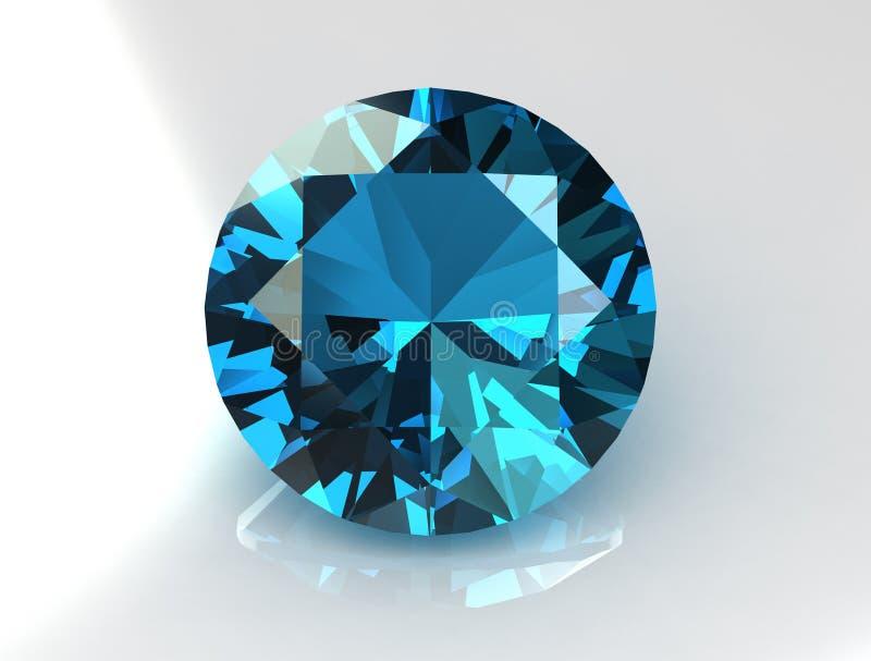 голубой topaz gemstone иллюстрация штока