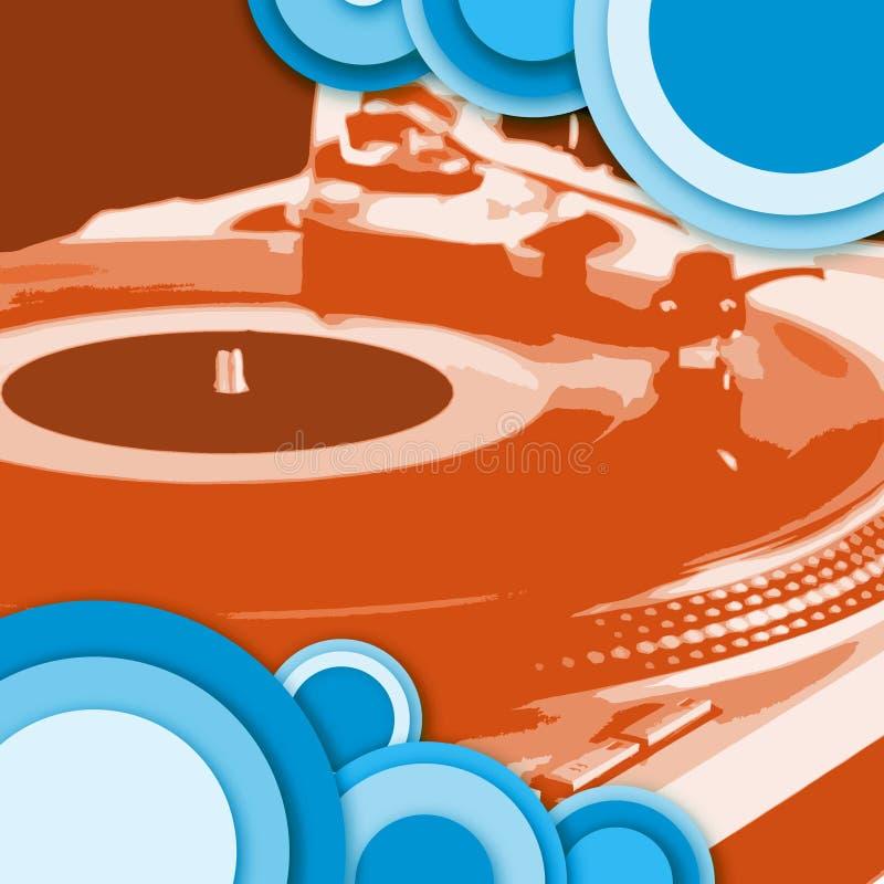 голубой turntable красного цвета круга бесплатная иллюстрация