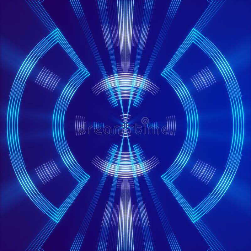 Голубые абстрактные предпосылка, свет и форма бесплатная иллюстрация