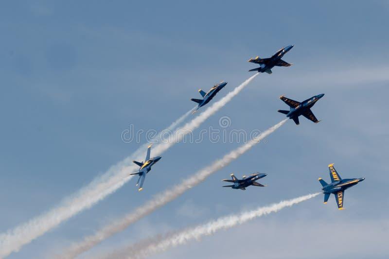 Голубые ангелы стоковая фотография rf