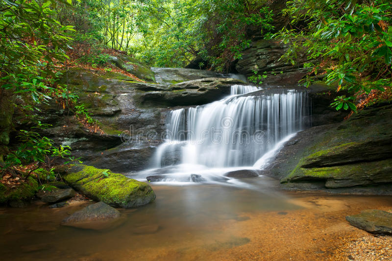 голубые водопады зиги природы ландшафта стоковое изображение