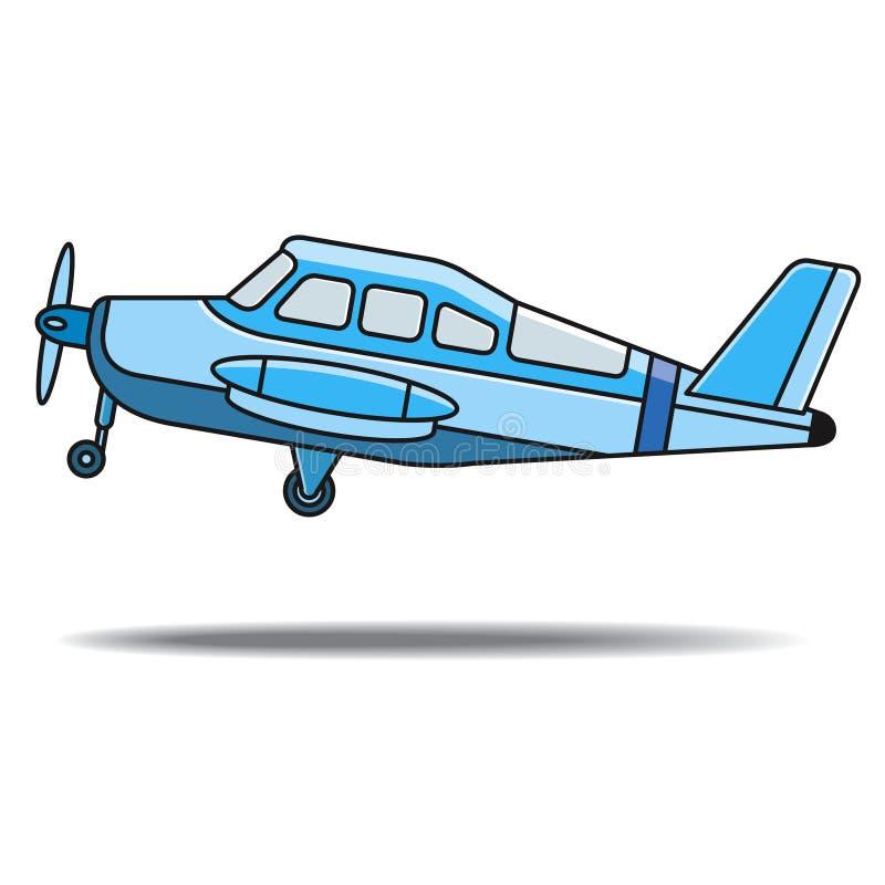 Голубые воздушные судн пропеллера цвета принять  бесплатная иллюстрация