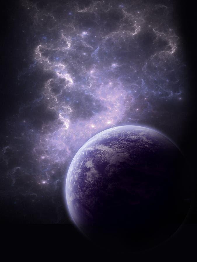 голубые волны космоса творения иллюстрация вектора