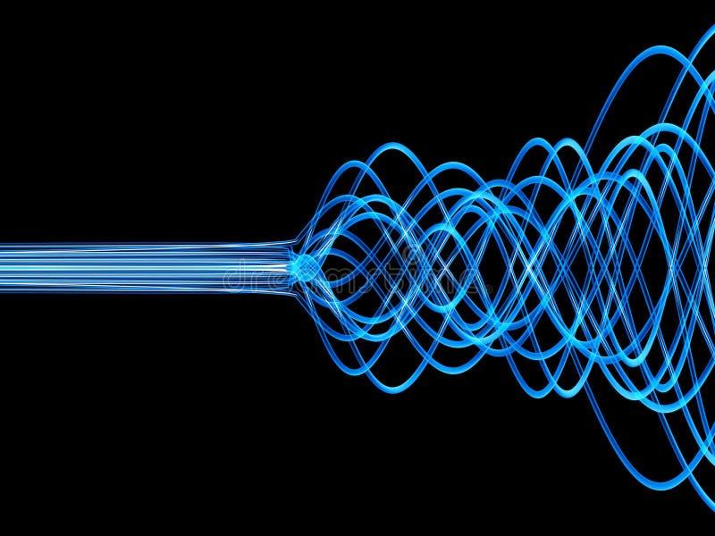 голубые волокна иллюстрация штока