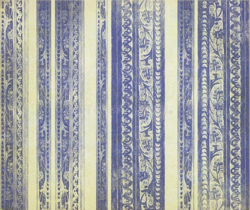 голубые высеканные флористические нашивки деревянные стоковые изображения rf