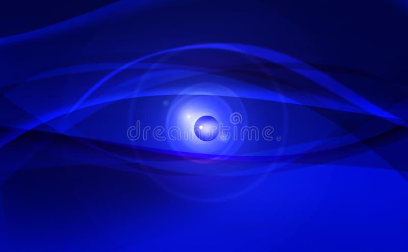 Голубые глазы цифров иллюстрация вектора