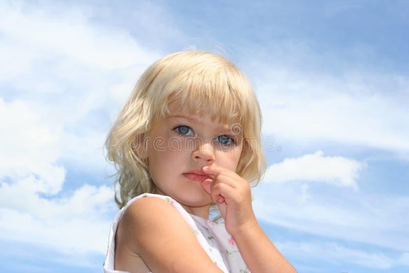 Голубые глазы стоковая фотография rf