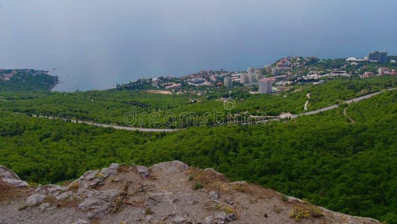 Голубые горы и голубое море Чёрное море Крым стоковое изображение