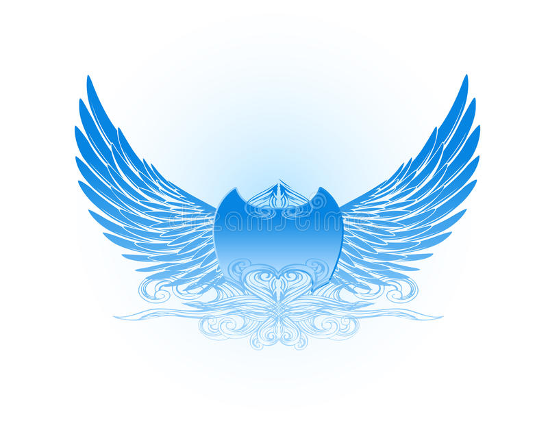 голубые декоративные крыла бесплатная иллюстрация