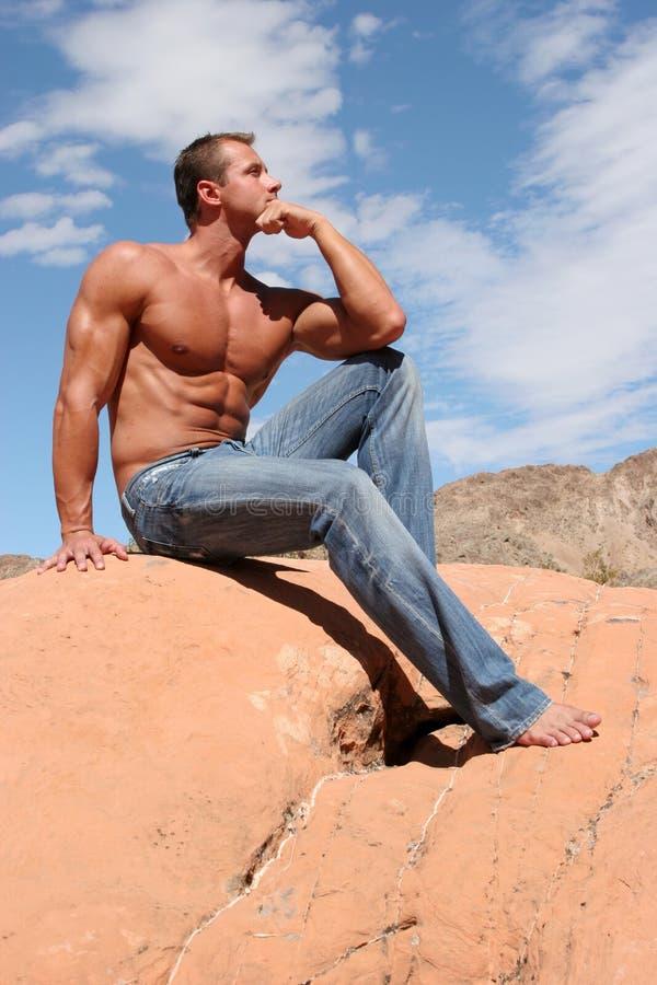 голубые джинсы укомплектовывают личным составом сексуальное стоковое фото rf