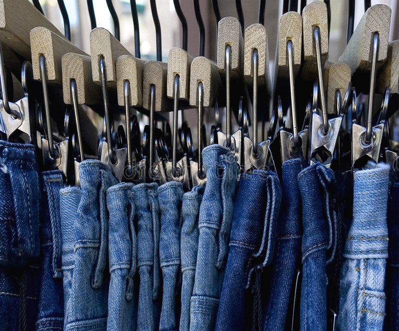 голубые джинсы стоковые фото