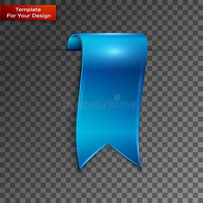 Голубые закладки изолированные на прозрачной предпосылке бесплатная иллюстрация