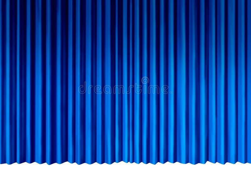 голубые занавесы иллюстрация вектора