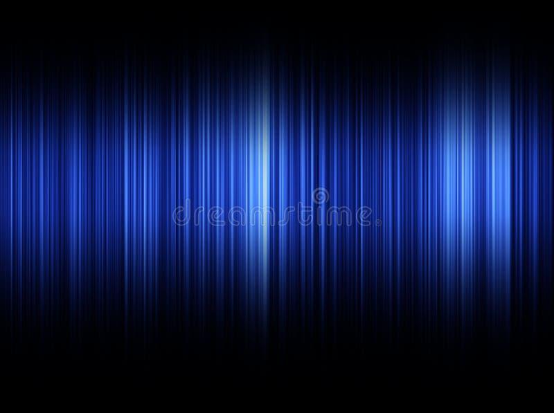 голубые звуковые войны иллюстрация вектора