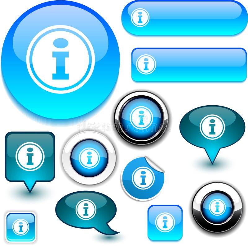 голубые знаки info бесплатная иллюстрация