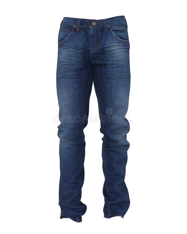 голубые изолированные джинсыы иллюстрация штока