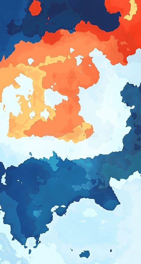 Голубые и оранжевые одежды, обои и предпосылки иллюстрация вектора