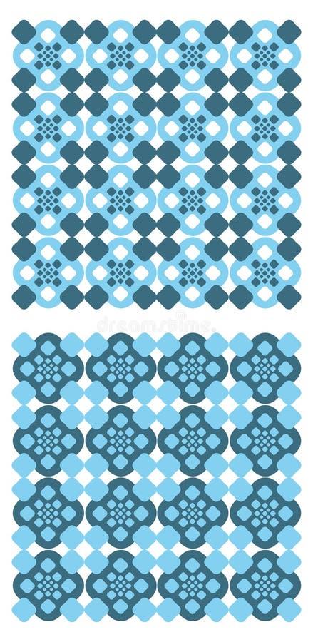 голубые картины иллюстрация вектора