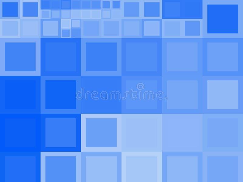 Голубые квадратные предпосылки стоковое изображение