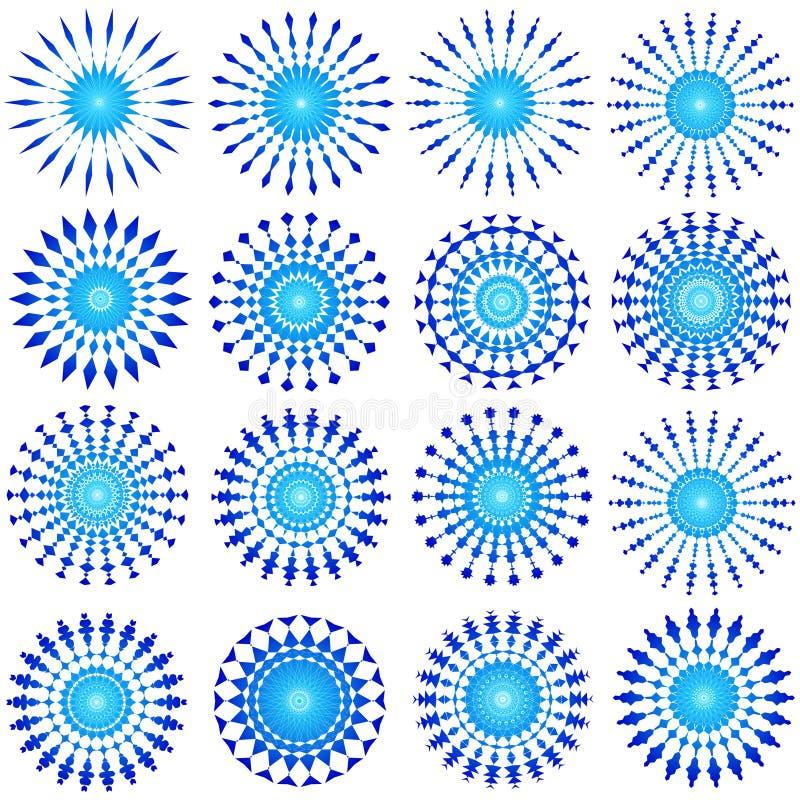 голубые конструкции иллюстрация штока